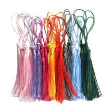 30 pçs misturou a variedade clássica das borlas do marcador do floss da cor com laços do cabo