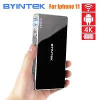 2020 dernier projecteur Android intelligent BYINTEK P10, Mini projecteur LED HD Portable de poche Wifi pour Home cinéma 1080P MAX 4K