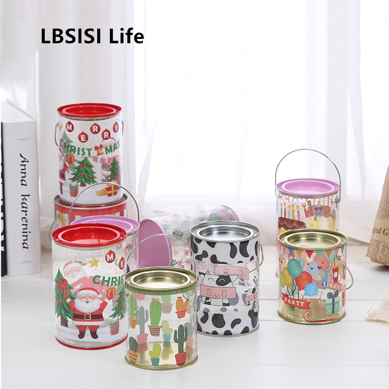 LBSISI Life Child Candy Cookie Gift Box Hand Bottle Baby Birthday Party Children's Day Christmas Gift Paking Box