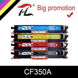 HTL wkład z tonerem CF350A 350A CF351A CF352A CF353A 130A comptible dla hp color laserjet pro mfp M176n M176 M177fw M177 w Kasety z tonerem od Komputer i biuro na