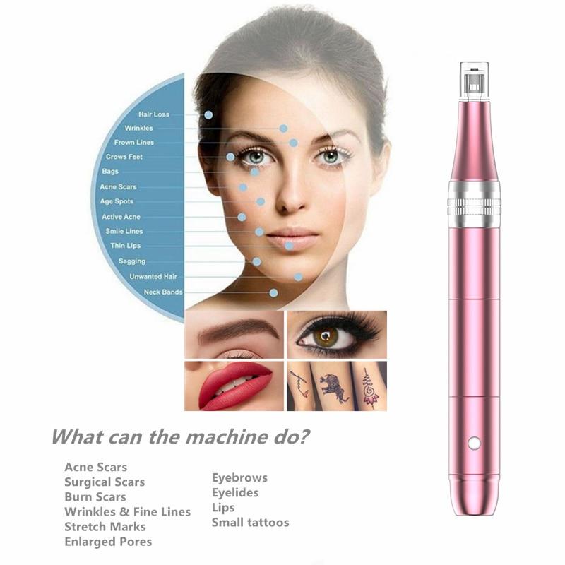 Hot Sale Wireless Micro Needle Pen Derma Kit MTS Professional Beauty Equipment Semi-permanent Embroidery Tattoo Gun