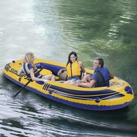Leisure 3 Person 8FT Inflatable Dinghy Boat Fishing Rafting Water Sports boating Rowing Boats