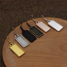 Fit 10x25mm Rechteck Cabochon Blank Einstellung Lünette Blank Basis Cabochon Ohrring Basis Tray Für DIY Ohrring Geschenk 10 teile/los K05420