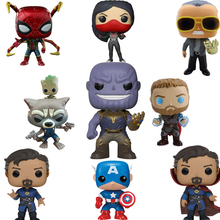 FUNKO POP Marvel Legends Avengers Iron Man Captain America Funko PVC Action Figure Originais Box Christmas Gifts F48