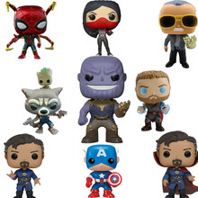 FUNKO POP Vingadores Marvel Legends Homem De Ferro Capitão América POP Funko PVC Action Figure Presentes de Natal Caixa de Originais F48(China)