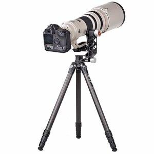 Image 5 - XILETU XGH 2 برو الثقيلة سبائك الألومنيوم Gimbal ترايبود رئيس استقرار سريعة الإصدار لوحة ل المقربة عدسة التصوير الطيور
