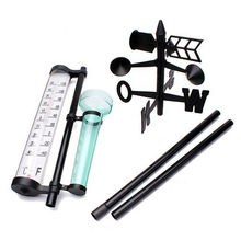 Садовая уличная метеостанция, метеоизмерительный прибор, инструмент для измерения ветра и дождя, термометр WWO66