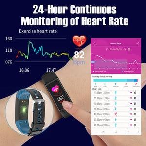 Image 2 - Smart Bracelet IP68 Waterproof 1.14inch Smart Band Heart Rate Blood Pressure Monitor Pedometer Fitness Traker Smart Wristband