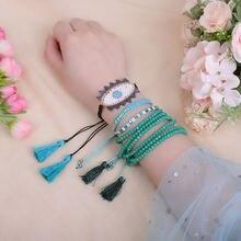Модный браслет zhongvi «Миюки» «сглаза» ювелирные изделия для