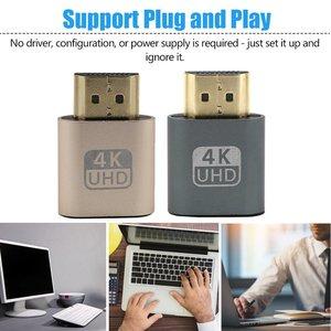 4K HDMI Virtual Displayeat Dummy Plug Display Emulator Connector VGA Virtual Emulator Adapter DDC Edid 2020 New