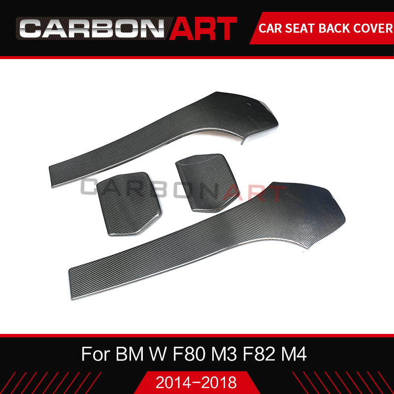 For BMW M3 F80 M4 Carbon Seat Back Cover M Series F83 M4 F82 M4 F80 M3 Carbon Fiber Chair Back Patch Trim F82 M4 Car Styling