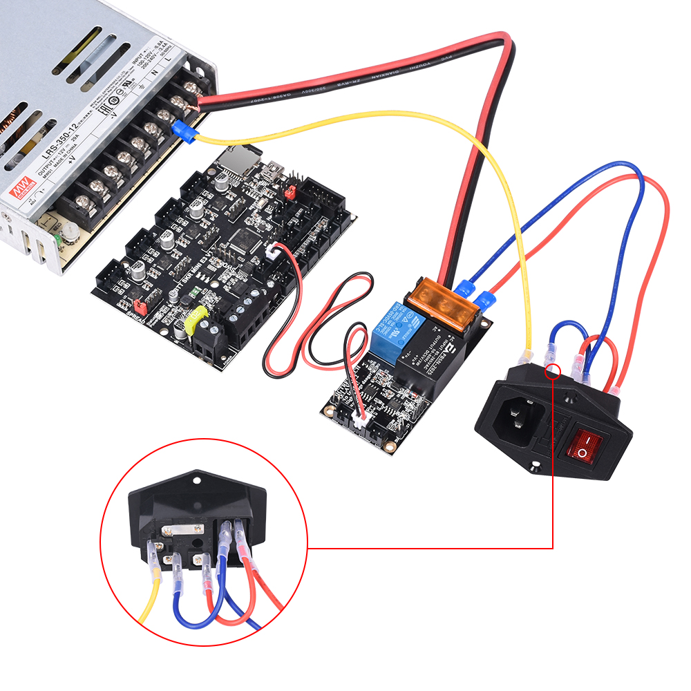 cheapest BIGTREETECH Relay V1 2 Automatic Shut Down Module 10A 250V Power Switch 3D Printer Parts For SKR V1 3 CR10 Extruder