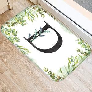 Image 4 - Alfombra de franela Rectangular con alfabeto de 40*60 colores, alfombra de suelo lavable, alfombra decorativa para dormitorio de casa, alfombra antideslizante para Baño