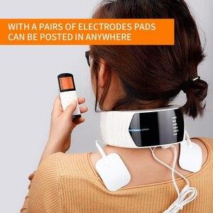 Image 2 - Elektrik darbe boyun masaj servikal Vertebra dürtü masajı fizyoterapi akupunktur manyetik terapi ağrı kesici aracı