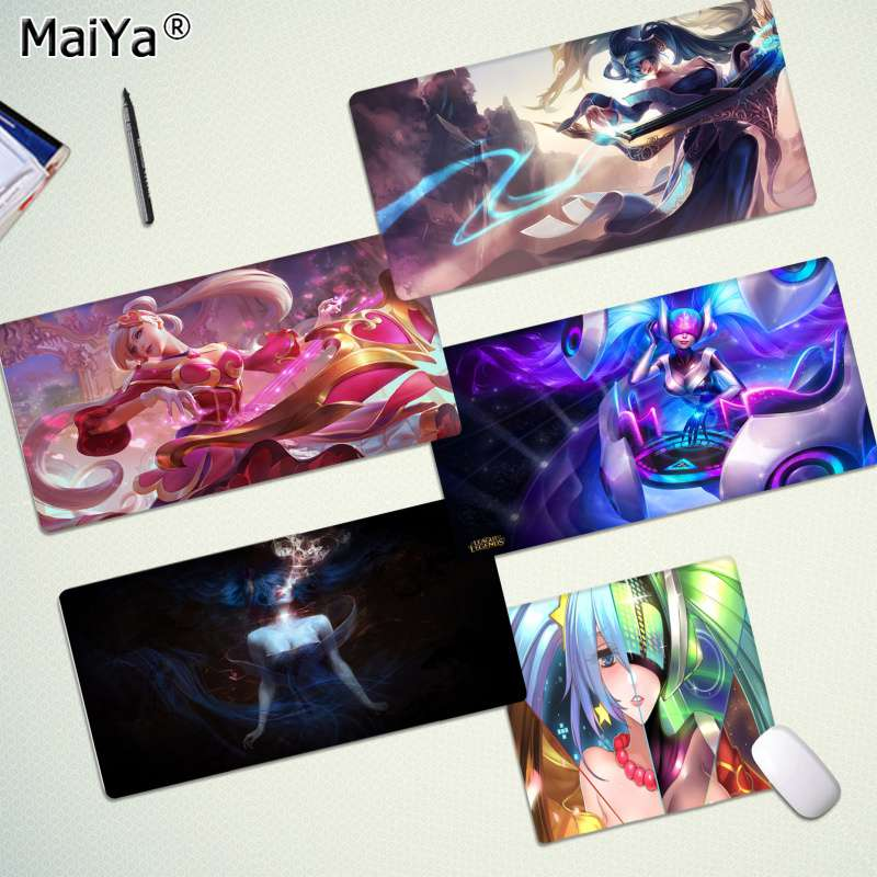 Maiya  Sona Lol Rubber PC Computer Gaming Mousepad Speed/Control Version Large Gaming Mouse Pad