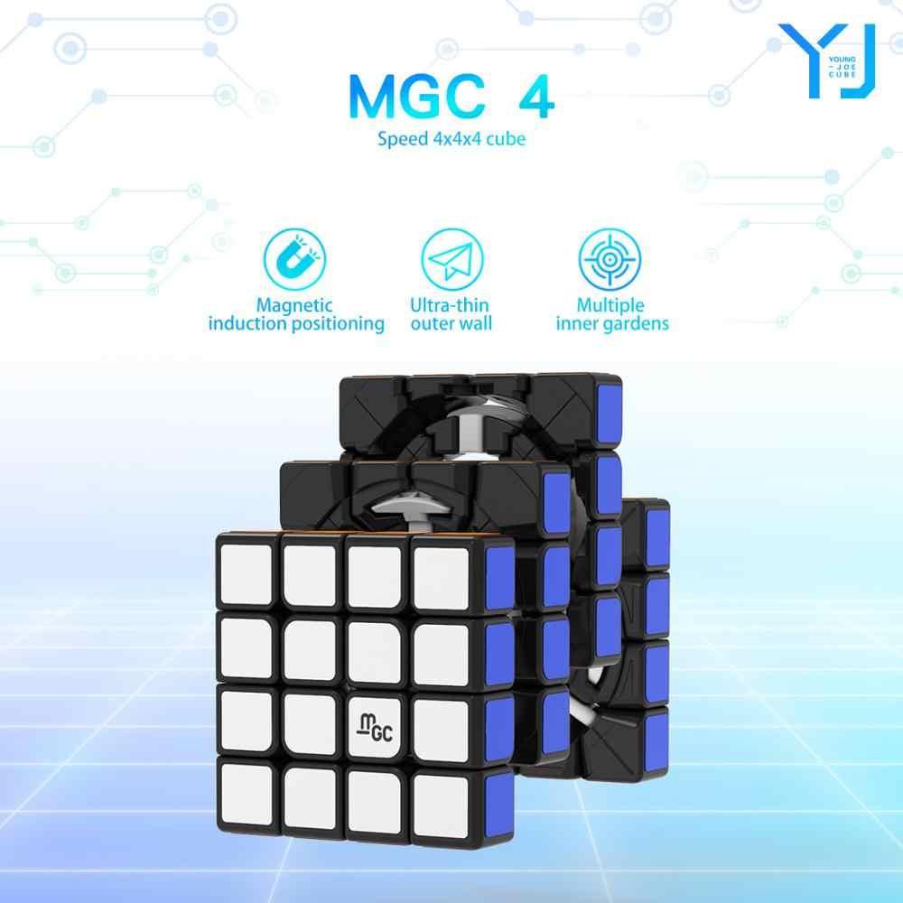 YJ MGC 4x4 Магнитная Магическая скорость Yj Cube Yongjun MGC 4 M 4 M mgc4 M 4x4x4 магниты Кубики-головоломки обучающие игрушки для детей