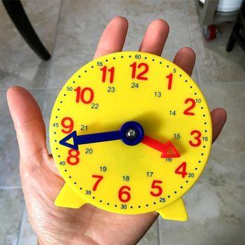 Montessori dzieci edukacyjne budzik regulowany czas nauka zegar wczesne nauczanie narzędzie godzina minuta wczesna edukacja tanie i dobre opinie Urodzenia ~ 24 Miesięcy 2-4 lata Zawody Telling Time Flash Cards CN (pochodzenie)