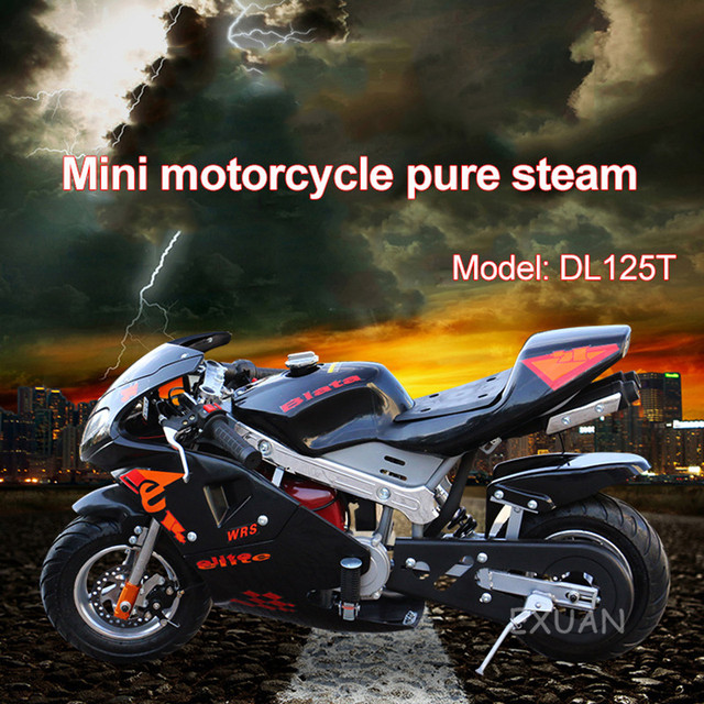 Disc Brake Race Small Sports Car Small Car 2020 Double Headlight Type Four Stroke Mini Motorcycle Pure Gasoline 49cc 2