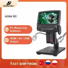 ANDONSTAR ADSM301 HDMI/USB 디지털 현미경 3MP 측정 소프트웨어 전화 수리 납땜 도구 bga smt 시계