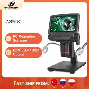 Image 1 - ANDONSTAR ADSM301 HDMI/USB Digital Mikroskop 3MP Messung Software für Telefon Reparatur Löten Werkzeug bga smt Uhr