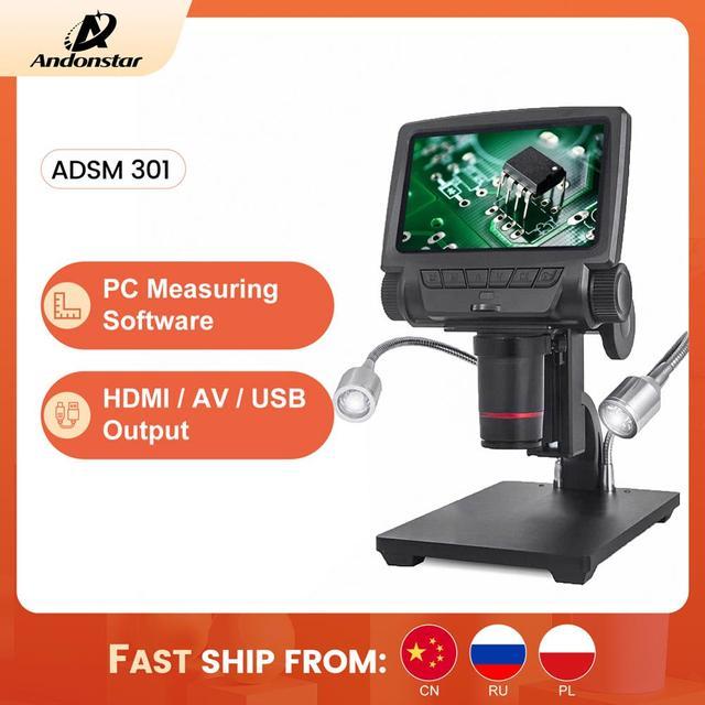 ANDONSTAR ADSM301 HDMI/USB Digital Mikroskop 3MP Messung Software für Telefon Reparatur Löten Werkzeug bga smt Uhr