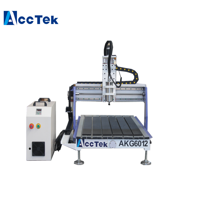Cnc Wood Router Machine AKG6012 For 3D Wood Engraving With 1.5kw Water Cooling Spindle