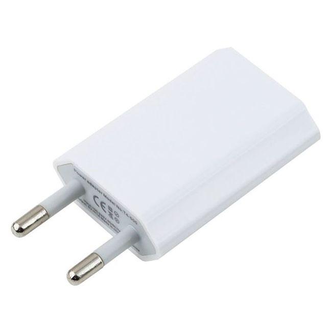 Cargador de corriente de pato con puerto USB de 5V y 1A adaptador de pared de CA para IPhone 11 pro max XR 8 7 6 5, 50 unidades