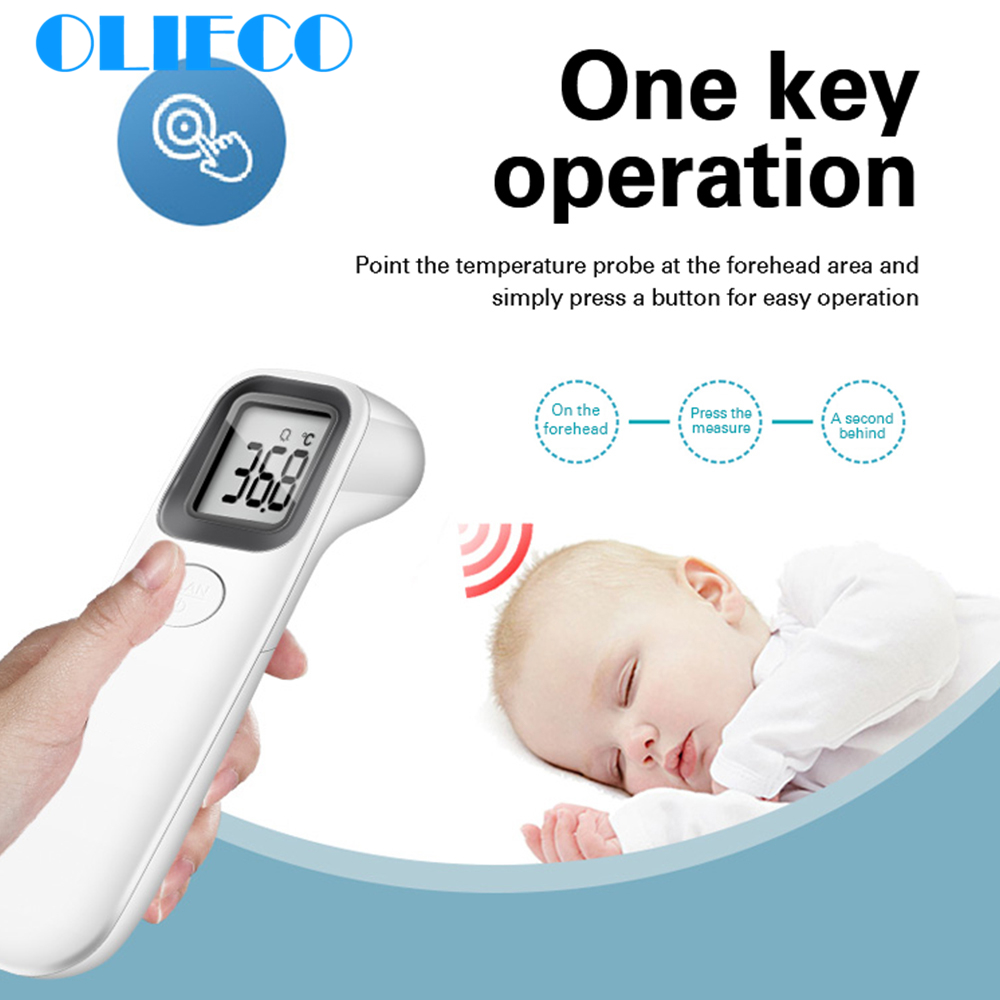 Baby Adult Digital Infrared Forehead Thermometer Electronic Non-contact Body Temperature Fever Measurement Device Drop Shipping