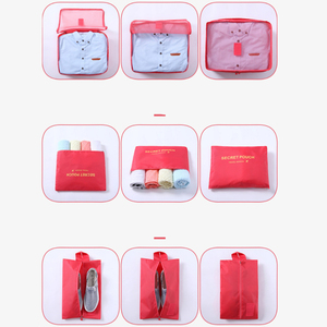 Image 3 - 7 pièces/ensemble bagages sac de voyage valise vêtements sac de rangement cosmétiques emballage cube organisateur bagages voyage bagages sac accessoires