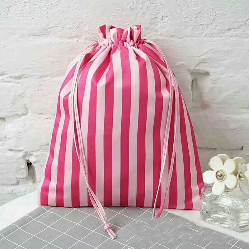 Fashion Women Travel Cosmetic Bag Drawstring Makeup Bag Elegant Drum Wash Kit Make Up Bag Organizer Storage Beauty Bags