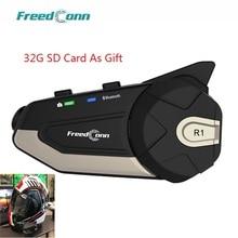 Freedconn R1 WiFi Motorcycle 1080P HD Camera Motorcycle Bluetooth 4.1 Helmet Headset Intercom Intercomunicadores De Casco Moto