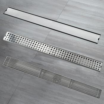 Stainless Steel Brushed 60x7cm Linear Floor Drain Bathroom Shower Toilet Anti-odor Drains Insert Tile HIDEEP