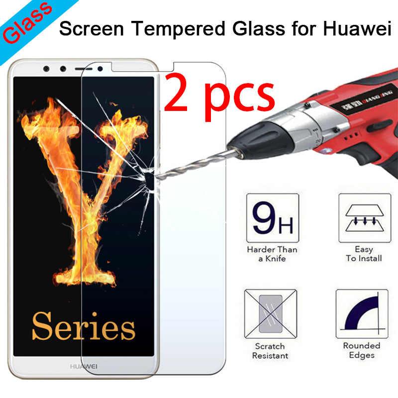 2 Pcs! Kaca Pelindung untuk HUAWEI Mate 20 Lite 10 Pro 9 8 7 9H HD Pelindung Layar Anti Gores Di huawei Mate S