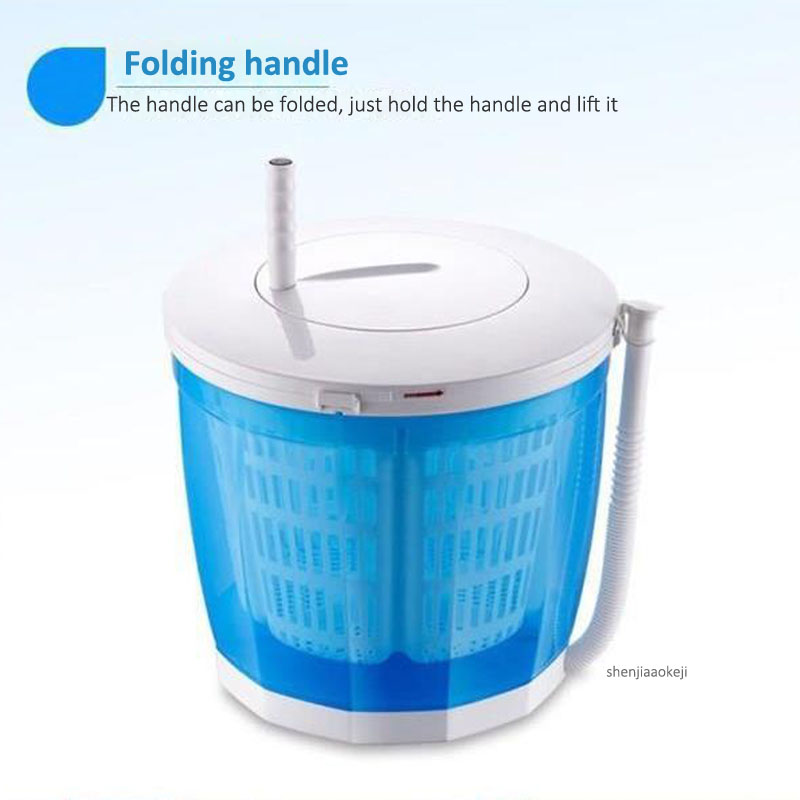 Mini Manual Clothes Washing Machine Home/dormitory Washing Machine Hand-held Laundry Washing Dehydration One-piece Washer 1PC