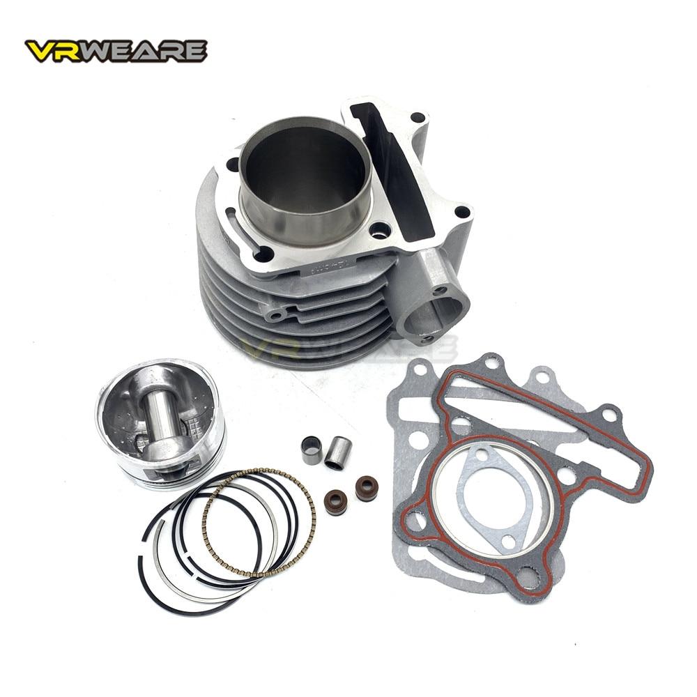 Комплект цилиндров GY6 125 52,4 мм, комплект поршневых колец для 4-тактного воздушного охлаждения, мопеда, квадроцикла GY6125 152QMI 1P52QMI