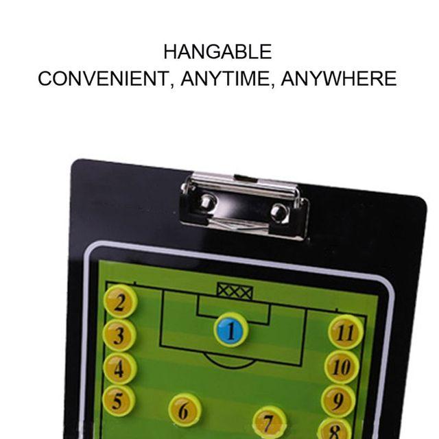 Football Coach Tactics Research Clipboard Magnetic Folder Coaching PVC Board Sports Accessories