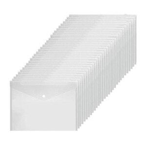 Image 5 - Poly Envelope Folder with Snap Button Closure, Premium Quality Clear Plastic Envelopes,30 Pcs Waterproof Transparent Project Env