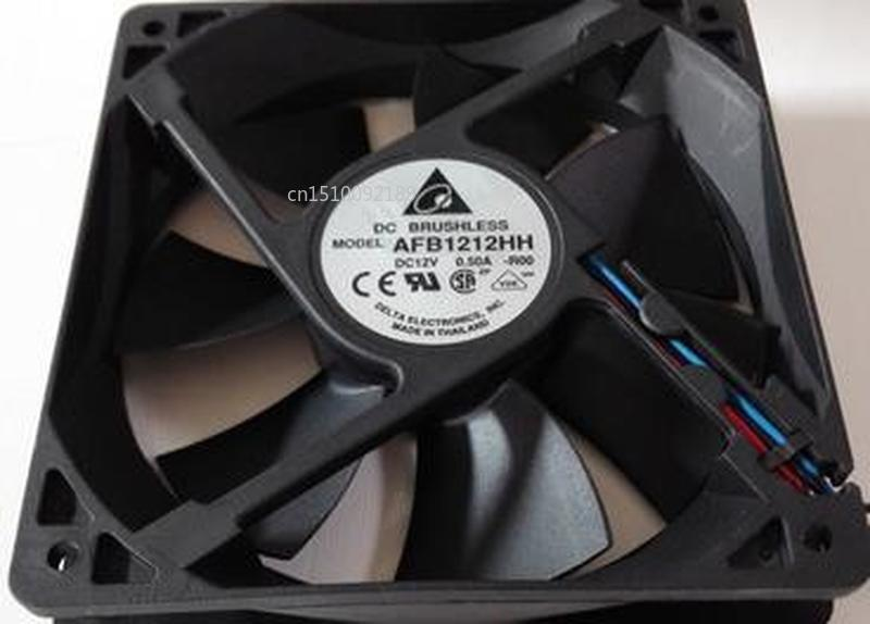 For AFB1212HH-R00 Double Ball Chassis Cooling Fan DC 12V 0.5A 2800RPM 3.96W 12025 120*120*25mm AFB1212HH 3 Wires Free Shipping