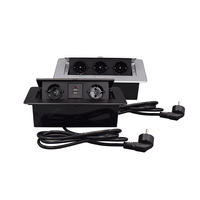 Scatola di connessione con presa multimediale smorzata con presa e caricabatterie USB per sala conferenze piano cucina con cavo di alimentazione da 1.5m