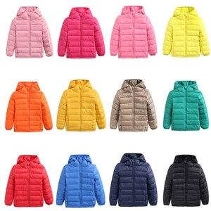 Image 2 - 1 4 7 12 14 yıl kış ceket erkek ceket % 90% ördek aşağı tüy ışık çocuk sonbahar bebek kız ceketler çocuklar parka dış giyim