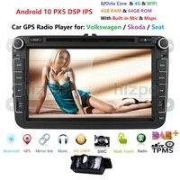 UK/DE/US/CN Warehouse 4+64 android 10.0 car dvd player for VW polo golf passat tiguan skoda yeti superb rapid for skoda gps navi