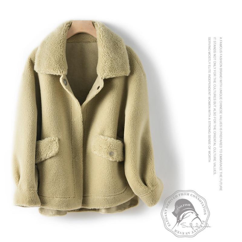 Winter Coat Women Korean Real Fur Coat Female Clothes 2020 Thick Warm Sheep Shearing Jacket Ladies Natural Fur Coats 1908