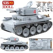 535PCS Technik LT 38 Light TANK Building Blocks Military Army City ทหารอาวุธอิฐเด็กของเล่นเด็ก