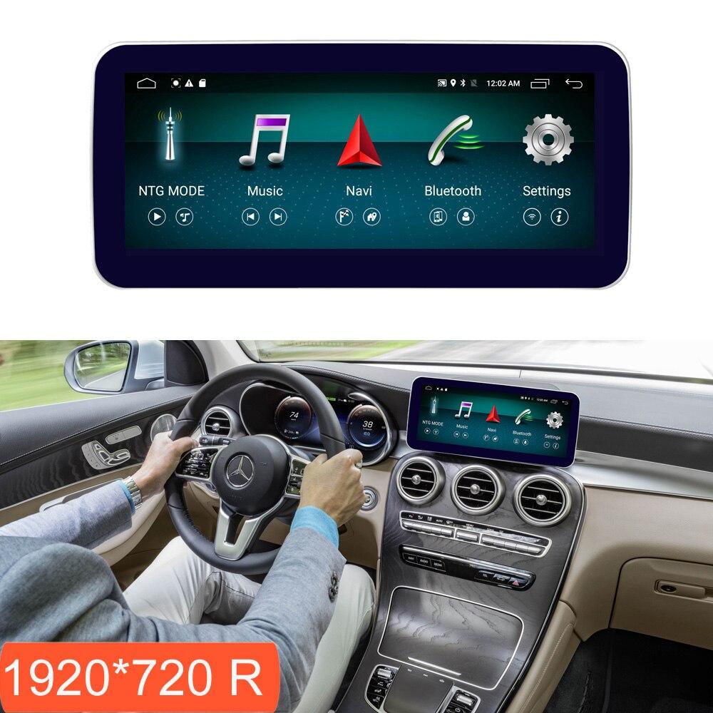 10.25 polegada 4 + 64G W205 GLC Exibição Android para Mercedes Benz C Class 2015-2018 Rádio Do Carro tela de Navegação GPS com Bluetooth