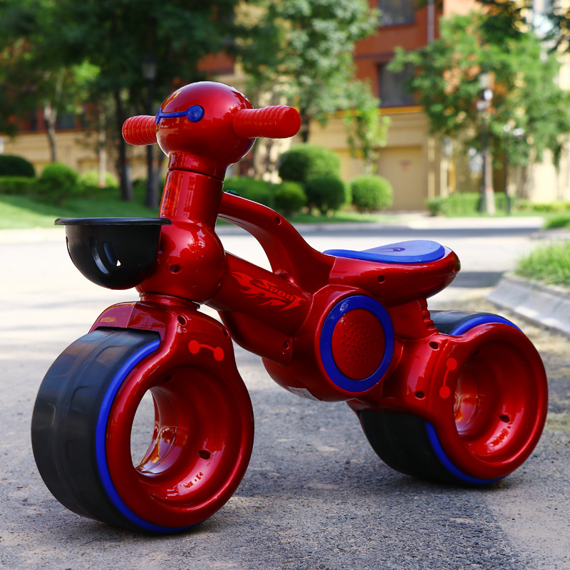 Kids Toy Car 1-3 Years Children's Balance Bike Scooter 2-Wheels with Music Baby Ride on Car Toys No Pedal Big Wheel Kids Bicycle