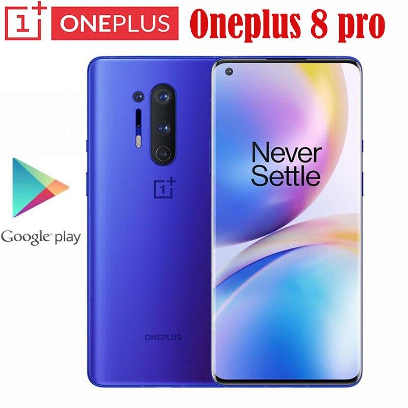 Oneplus 8 Pro 5G Smartphone Snapdragon 865 8G 128G 6.87 120Hz wyświetlacz płynu 48MP Quad 513PPI 30W bezprzewodowe ładowanie globalny Rom