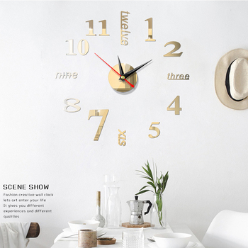 Large Wall Clock Modern Design DIY Mute 3D Acrylic Wall Clock Living Room Home Bedroom Office Decor Wallpaper Stickers image