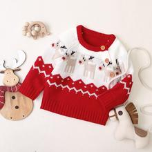 Baby Sweaters Newborn Boys Winter Clothes Christmas Knitted Toddler Girls Jumpers Autumn Outerwear Infant Long Sleeves Knitwear red christmas reindeer knitted baby jacket for girls fall long sleeved sweaters cardigans coats newborn boys winter warm clothes