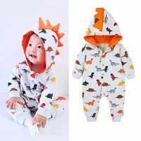 Ropa de otoño para bebés recién nacidos, chándal, modelado de dinosaurios, peleles de bebé de dibujos animados, Mono