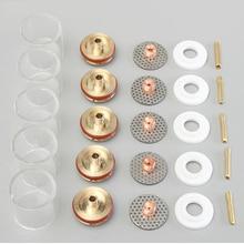Газовые линзы Pyrex Glass набор кофейных чашек by с кольцами для сварочных гофонарь WP9/20 TIG, сварочные аксессуары, 1 комплект